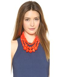 kate spade new york - Orange Give It A Swirl Triple Strand Necklace Surprise Coral - Lyst