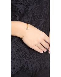 Giles & Brother Metallic Skinny Railroad Spike Pave Bracelet - Gold/clear