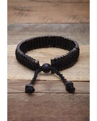 Forever 21 Black Vitaly Arma Bracelet for men