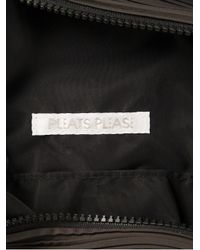 Pleats Please Issey Miyake Gray Pleated Backpack