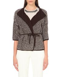 Max Mara | Brown Girone Wool-blend Knitted Cardigan | Lyst