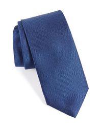 Eton of Sweden Blue Solid Silk Tie for men