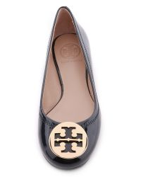 Tory Burch Black Reva Patent Leather Ballet Flats