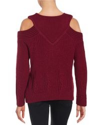 Yigal Azrouël | Purple Cold-shoulder Knit Sweater | Lyst