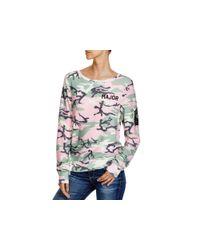 Wildfox Pink Major Camouflage Sweatshirt - 100% Bloomingdale's Exclusive