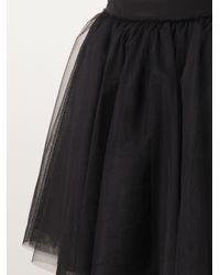 Moschino Black Tulle Skirt