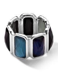 Ippolita Blue Wonderland Quartz & Mother-of-pearl/pyrite Brick Ring