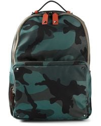 Valentino Blue Camouflage Backpack