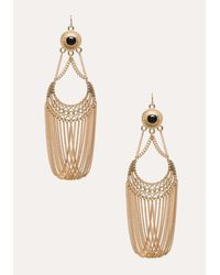 Bebe | Metallic Half Moon Chain Earrings | Lyst