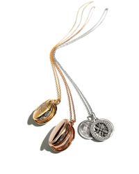 Monica Rich Kosann - Metallic 18K White Gold & Diamond Gate Locket Necklace - Lyst