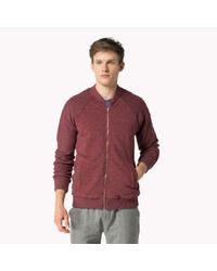 Tommy Hilfiger Red Cotton Track Jacket for men
