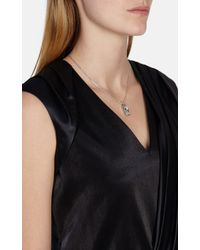 Karen Millen - Metallic Luxe Oblong Crystal - Lyst
