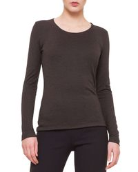 Akris - Brown Cashmere-blend Long-sleeve Top - Lyst