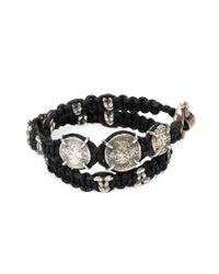Tobias Wistisen   Black Braided Coin Bracelet for Men   Lyst