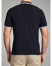 Stussy Blue Twin Tipped Slim Fit Polo Shirt for men