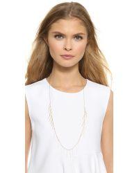 Gorjana Metallic Marmont Fringe Necklace - Gold