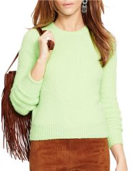 Polo Ralph Lauren | Green Wool Crewneck Sweater | Lyst