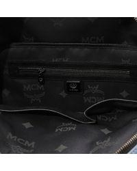 MCM Blue Medium Dual Stark Backpack
