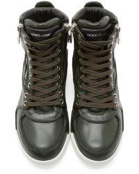 Dolce & Gabbana Green Benelux High_top Sneakers for men