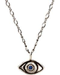 Pamela Love | Metallic Oculus Silver And Sapphire Pendant | Lyst