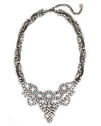 DANNIJO | Metallic 'vala' Frontal Necklace - Clear Crystal/ Silver | Lyst