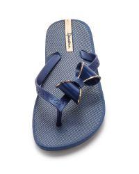Ipanema Neo Clara Bow Flip Fops - Blue/blue