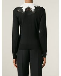 Dolce & Gabbana - Black Lace-Detail Silk Cardigan - Lyst