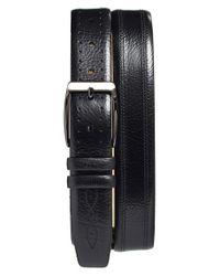 Mezlan Black 'perseo' Leather Belt for men