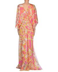 Emilio Pucci - Purple Long Dress - Lyst