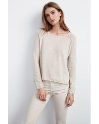 Velvet By Graham & Spencer - Natural Ghala Cashmere Raglan Sweater - Lyst
