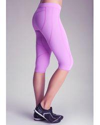 Bebe Purple Butt Buster Capri Pants