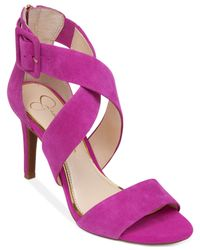 Jessica Simpson Purple Liddy Cross Strap Sandals