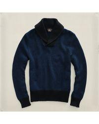 RRL - Blue Shawlcollar Pullover for Men - Lyst
