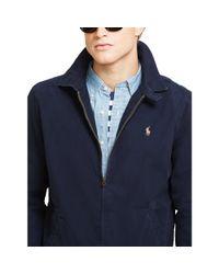 Polo Ralph Lauren - Blue Cotton Poplin Windbreaker for Men - Lyst