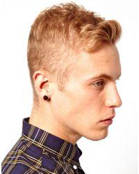 ASOS - Brown Wooden Plug Earrings for Men - Lyst