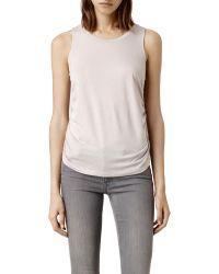 AllSaints - Gray Tash Top - Lyst