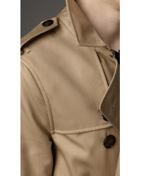 Burberry Natural Mid-Length Technical Cotton Trench Coat for men