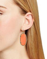 Kendra Scott Orange Elle Earrings