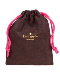 kate spade new york - Pink Tied Up Hinge Bangle - Lyst