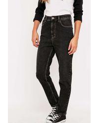 Women\u0027s High-waisted Black Girlfriend Jeans