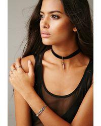 Forever 21 - Metallic Gypsy Warrior Luna Crystal Bracelet - Lyst