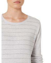 Linea Weekend | Gray Easy Marl Stripe Knit Jumper | Lyst