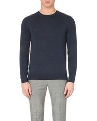 Paul Smith | Blue Crew-neck Merino Wool Jumper for Men | Lyst