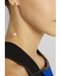Herve Van Der Straeten - Metallic 24k Gold Plated Yucata Single Pearl Drop Earrings - Lyst
