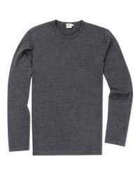 Sunspel Gray Men's Vintage Wool Jumper for men