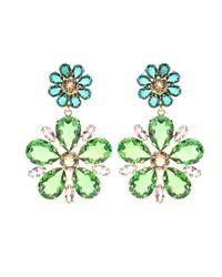 Dolce & Gabbana Green Embellished Clip-on Earrings