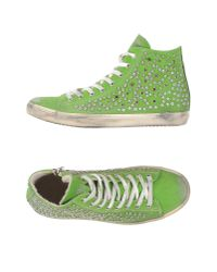 Leather Crown | Green High-tops & Trainers | Lyst