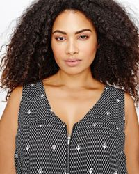 Addition Elle - Black Michel Studio Zip Front A-line Cami - Lyst