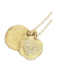 Scosha - Metallic 14-Karat Gold Diamond Charm Necklace - Lyst