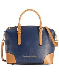Dooney & Bourke | Blue Claremont Domed Satchel | Lyst
